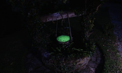Glow in bucket of well
